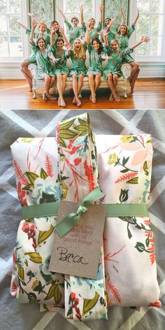 Such a pretty Bridesmaid Gift - Thoughtfully wrapped Kimono