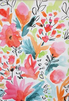 colourful acrylic floral paintings images - Google Search