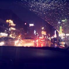비가오는 택시안 빗소리가 좋네 #비오는날 #감기조심