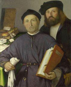 Lorenzo Lotto - Giovanni Agostino della Torre and his son, Niccolò (1515)