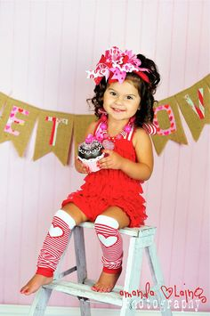 I just love these little outfits!!Valentines Romper  Sweet Heart Lace Petti Romper by rubyblueinc, $37.99