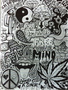 Trippy Weed Art Drawings