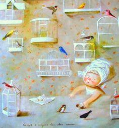 """Е.Гапчинская """"Сегодня я выпускаю всех своих птичек"""""""