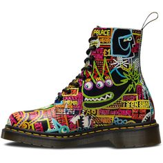 Martens Wigan Kaboom Pascal Lace Low Boot and other apparel, accessories and trends. Browse and shop related looks. Lace Up Combat Boots, Leather Lace Up Boots, Low Boots, Leather Booties, Real Leather, Dr. Martens, Botas Dr Martens, Lace Booties, Ankle Booties