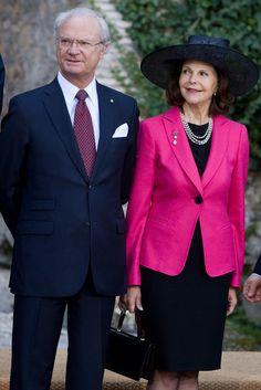 maternal grandparents Silvia and Carl Gustaf