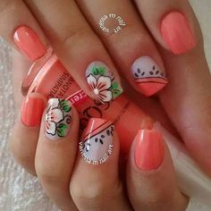 15+ Ideias e Tutoriais de Desenhos para Unhas Bath And Beyond Coupon, Flower Nails, Cookies Et Biscuits, Nail Arts, Pedicure, Nail Art Designs, Hair Beauty, Nail Polish, Make Up