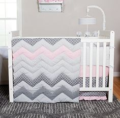 Trend Lab Chevron 3 Piece Crib Bedding Set, Cotton Candy Trend Lab http://www.amazon.com/dp/B00ZJJOW56/ref=cm_sw_r_pi_dp_Unagwb1P293WE