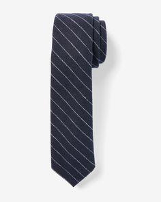 Narrow Textured Striped Tie