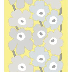 Marimekko Unikko Yellow Grey Fabric -- keeping with my yellow and grey theme, love this pattern