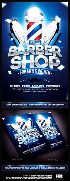 Barber Shop Flyer Template - Miscellaneous Events