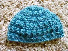 "Handmade Hat ""little stars"" Beanie, NEWBORN size: Misty Blue. $18.00, via Etsy."