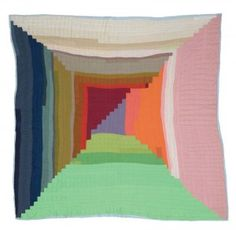 NANCY PETTWAY, BRICKLAYER VARIATION, 2003, quilted fabric, 71 x 71 inches