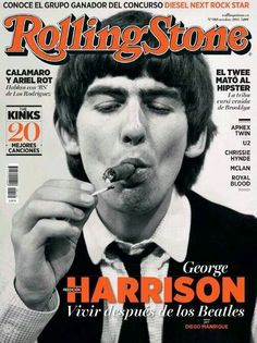 George Harrison on cover of Rolling Stone Magazine (October 2014)