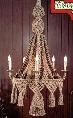 Image result for emily katz macrame chandelier