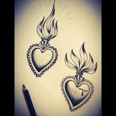 #sacredheart by #misssita @ #oneoninebarcelona #hearttattoo #sacredhearttattoo (presso One O Nine) Love Tattoos, Tattoo You, Unique Tattoos, Beautiful Tattoos, Tribal Tattoos, Sternum Tattoos, Jesus Tattoo, Traditional Tattoo Art, Traditional Ink