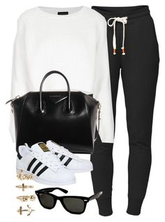 Style #10168 by vany-alvarado on Polyvore featuring polyvore, fashion, style, Topshop, Lija, adidas, Givenchy, NLY Trend, Ray-Ban and clothing