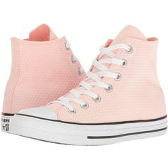 Converse Chuck Taylor All Star Snake Woven Textile Hi (White/Vapor... ($49) ❤ liked on Polyvore featuring shoes, sneakers, pink shoes, snake sneakers, snake print shoes, pink sneakers and white shoes