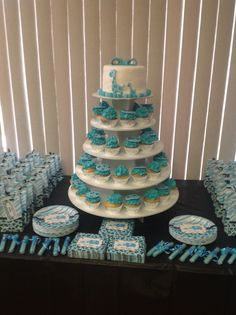 Awesome Blue Safari Baby Shower Decorations