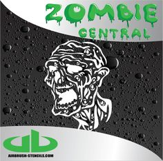 Zombie Stencils For Painting Guns