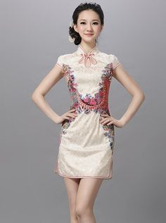 pink cheongsam dress - Google Search