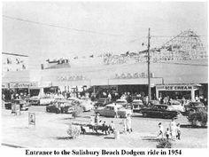 Entrance to Salisbury Beach Dodgem ride in 1954. #salisburybeach