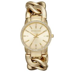 Nini Gold-tone Chain Link Ladies Watch