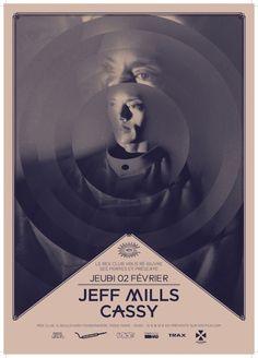 Jeff mills cassy #poster #typography #design