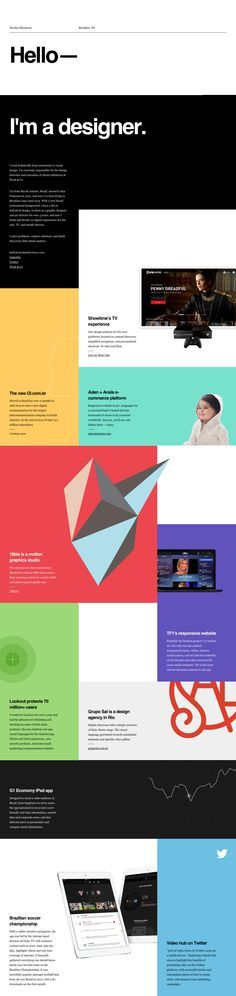 web design one pager geometric asymmetrical creative layout inspiration - Google Search