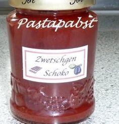 Zwetschgen-Schoko-Cognac-Konfitüre - Rezept