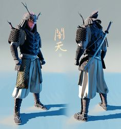 I realized I haven't uploaded a full body of the Yamiten samurai design in Here goes! Character Concept, Character Art, Concept Art, Character Inspiration, Samurai Concept, Armor Concept, Futuristic Samurai, Samurai Clothing, Samurai Artwork