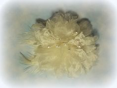 Chiffon Lace Tulle FLower Bridal FascinatorPearl by kathyjohnson3, $42.00