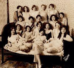 1920s girl gang pajama party