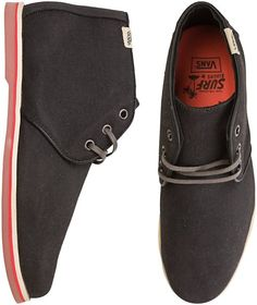 Vans Delta Shoe // Waxed Twill Canvas  Desert Boot