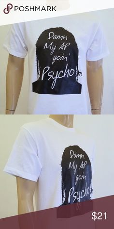 a93c66040 Men Post Malone My AP Going Psycho White T-Shirt New 100% Cotton Shirt