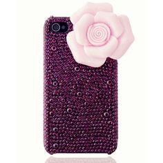 Aesthete Camellia Rhinestone Iphone4/4S Cases