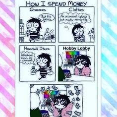 Funny and accurate (in my dreams) #hookedonserendipity #hobbylobby #craftstore #spendithowilike #yarnlove #craftlove #makersgonnamake #craftposure  #crochet #crochetaddict #crochetersofinstagram #etsy #etsyshop #girlboss #wahm #sahm #momwin #momlife #handmade #shophandmade #shopsmall #supporthandmade #shoplocal #socal #cali #redlands #yucaipa #sandiego #yarn #yarnlife by hookedonserendipity
