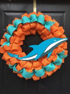 Miami Dolphins Wreath @Etsy