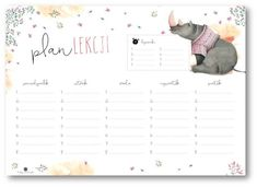 Plan lekcji z nosorożcem
