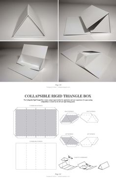 Collapsible Rigid Triangle Box Candle Packaging, Tea Packaging, Paper Packaging, Jewelry Packaging, Bottle Packaging, Retail Packaging, Packaging Dielines, Packaging Design, Label Design