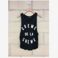 Créme de la Créme Tank So cute! PLEASE DO NOT BUY THIS LISTING. Comment with your size and I'll make you a new listing  Tops Tank Tops