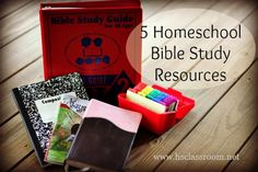 5 Homeschool Bible Study Resources... This Pin Rocks! so much info and great things! I love it~