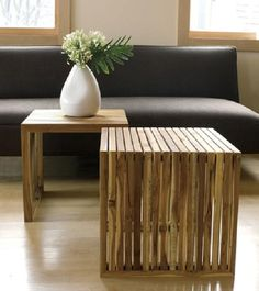 Awesome Wooden End tables (side, projects, crafts, DIY, do it yourself, interior design, home decor, fun, creative, uses, use, ideas, inspiration, reduce, reuse, recycle, used, upcycle, repurpose, handmade, homemade)