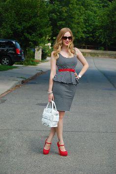 Dainty Girl we love this Ann Taylor peplum dress!   http://daintygirl.ca/ann-taylor-peplum/