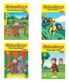 Curious George Curious About... #5-8 Paperback Set | zulily