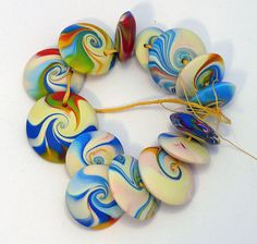 more polymer clay beads.