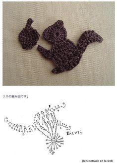 Solo esquemas y diseños de crochet: MAS APLIQUES