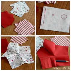 Learn how to make a five pointed star pincushion with an easy tutorial and nice fabrics Scrap Fabric Projects, Small Sewing Projects, Fabric Scraps, Quilting Projects, Sewing Hacks, Star Cushion, Animal Sewing Patterns, Five Pointed Star, Felt Christmas Decorations