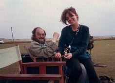 Stanley Kubrick and his daughter Vivian on the set of Full Metal Jacket