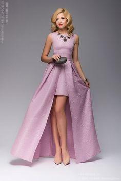 Розовое платье разноуровневое с двойной юбкой.  Розовое вечернее платье оригинального покроя. Особенно интересным это платье делает двойная юбка, благодаря которой создается ваш уникальный образ. Платье прекрасно подойдет для выпускного бала, свадьбы и других праздничных мероприятий.