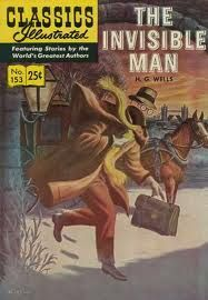 Geoffrey Biggs Classics Illustrated the Invisible Man Painted Cover Original Art (Gilberton, This - Available at 2009 November Signature Comics. Vintage Comic Books, Vintage Comics, Comic Books Art, Comic Art, Book Art, Vintage Library, Caricatures, Frankenstein, Paris 1900